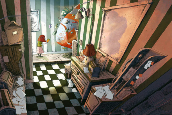 Poisson Appartement - illustration Romain Laforet
