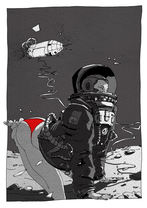Cosmic Girl - illustration Romain Laforet