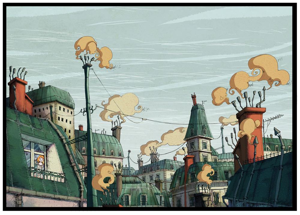 Toit de Paris - Illustration Romain Laforet