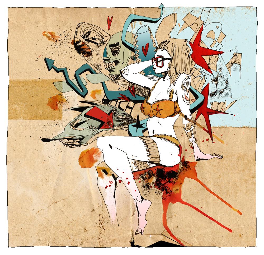 Sexy Girl - Illustration Romain Laforet