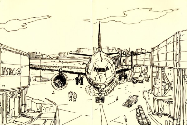 Airport - SketchBook - Romain Laforet