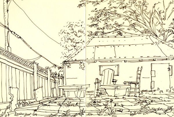 Backyard - SketchBook - Romain Laforet