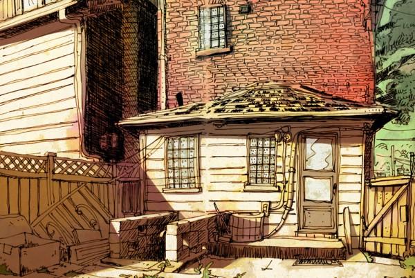 Backyard - SketchBook - Romain Laforet