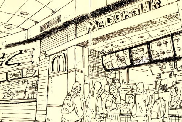 Mcdo - SketchBook - Romain Laforet