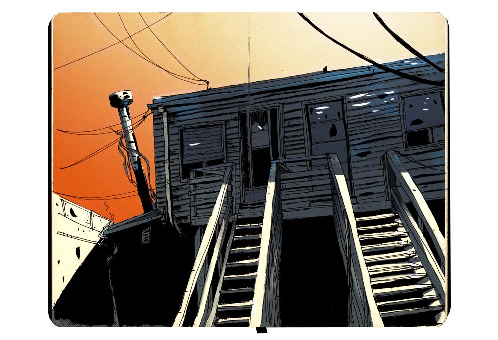 Stairs - SketchBook - Romain Laforet