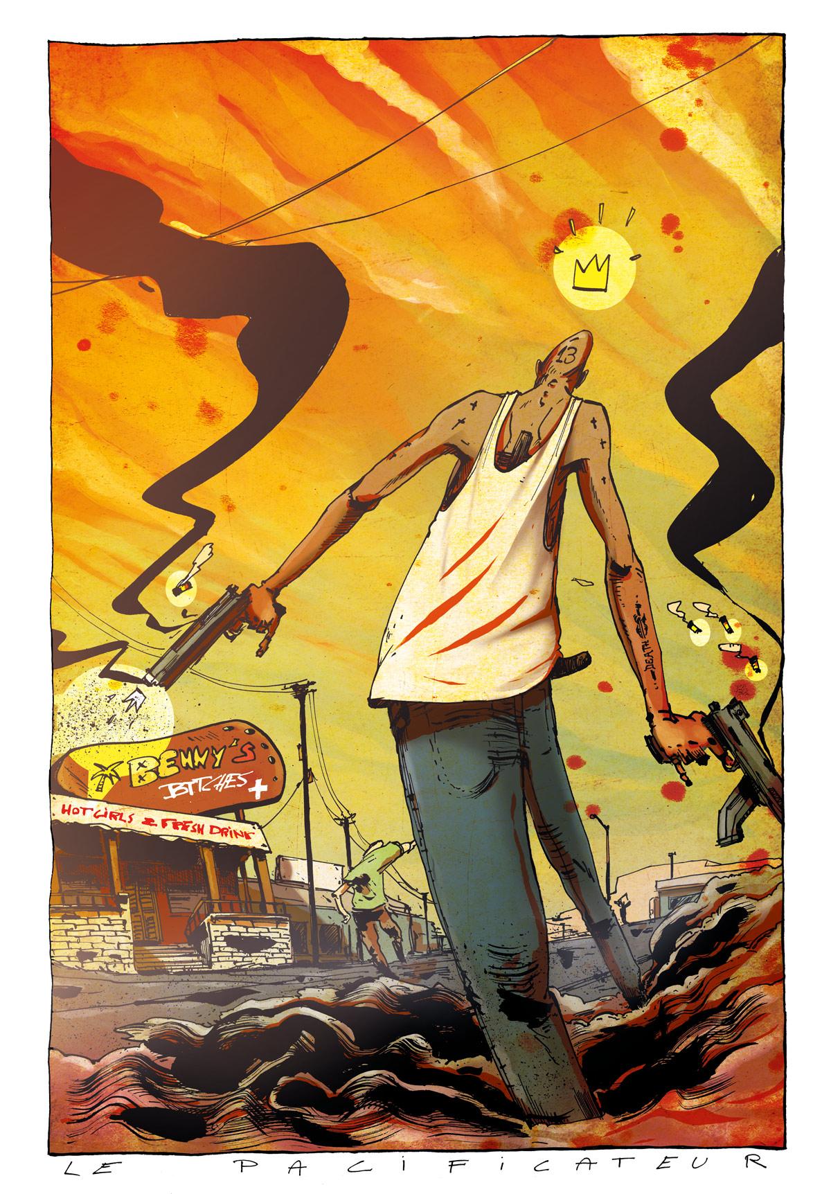 Pacificateur - 39,5° - Illustration Romain Laforet