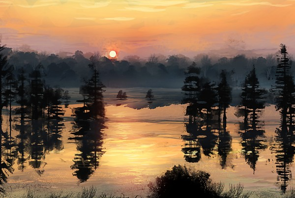 Lac Dumas Sunset - Romain Laforet