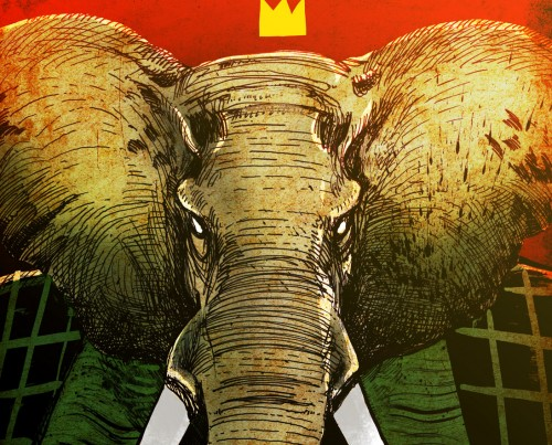 King Babar illustration romain laforet