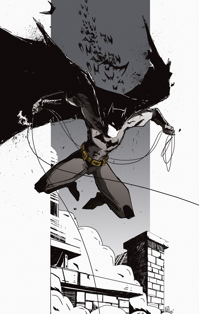 Batman illustration romain laforet