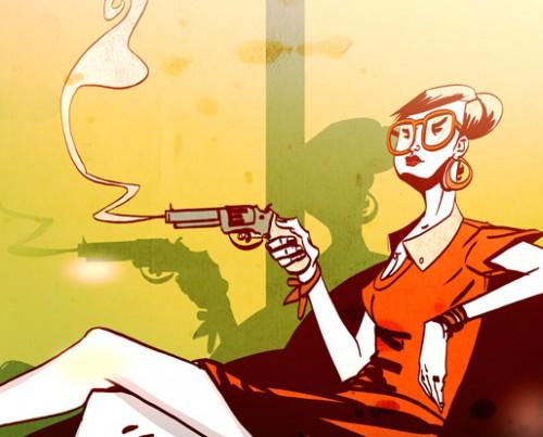 girl and gun romain laforet