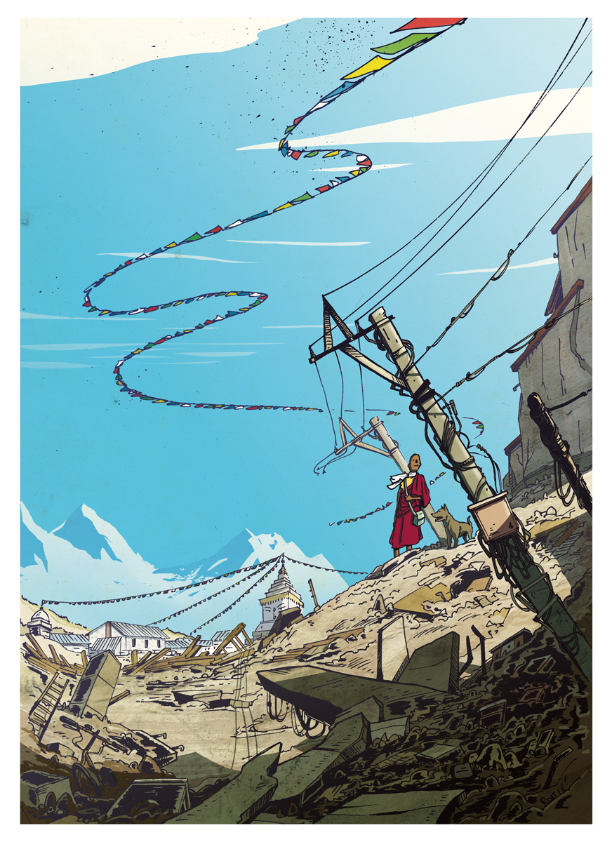 Nepal - illustration Romain Laforet