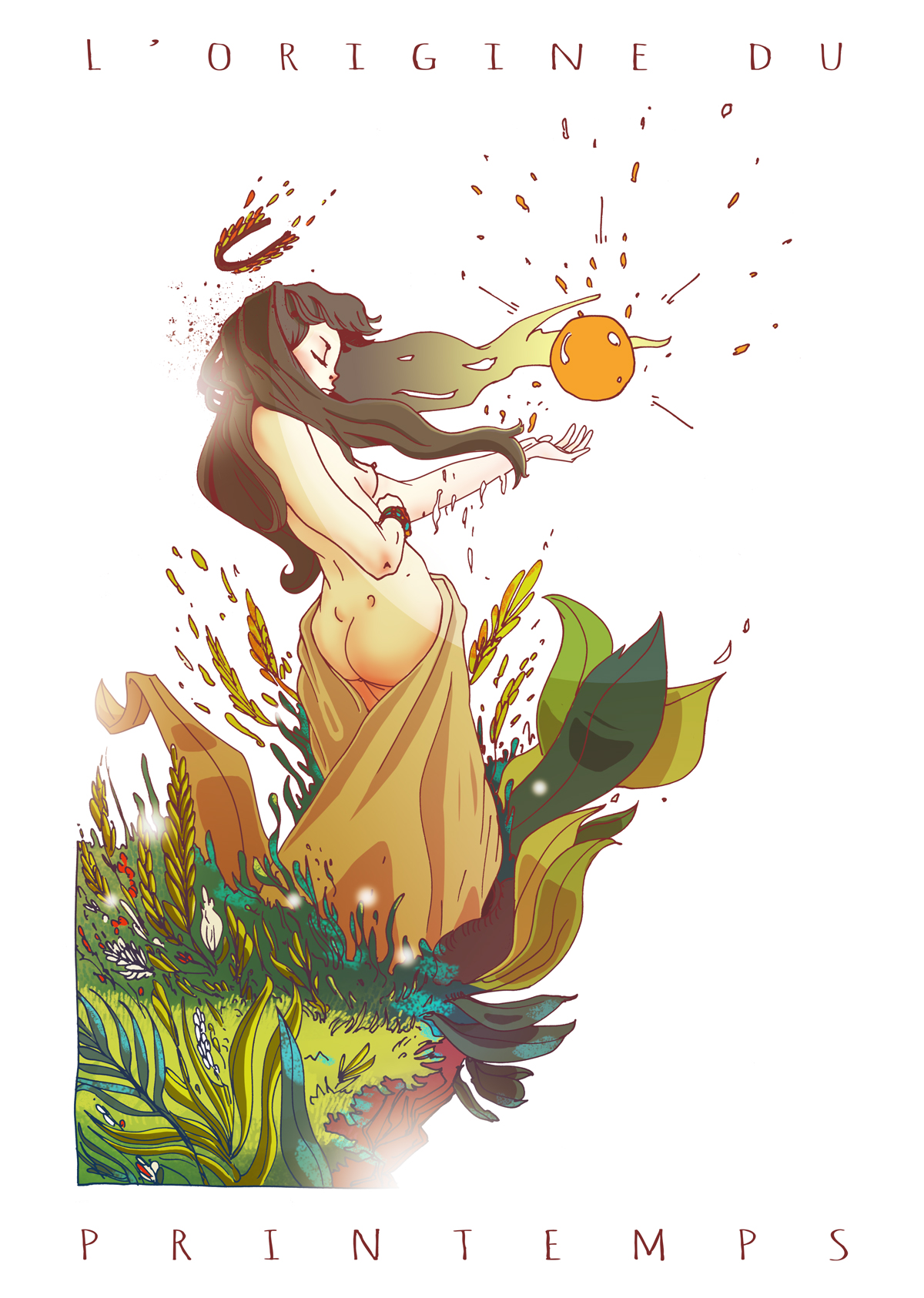 l'origine du printemps illustration Romain Laforet