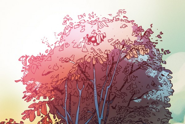 Pink Tree - illustration Romain Laforet