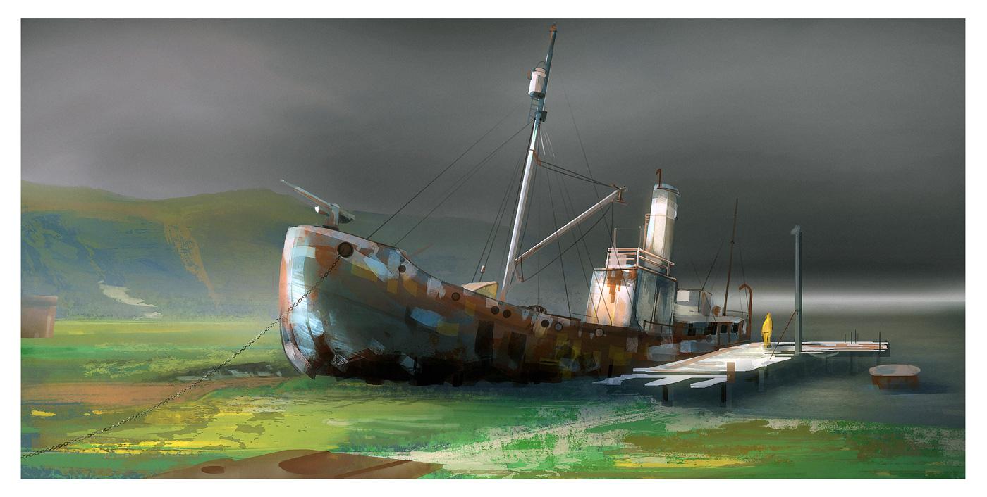 Bateau Abandonné - Romain Laforet