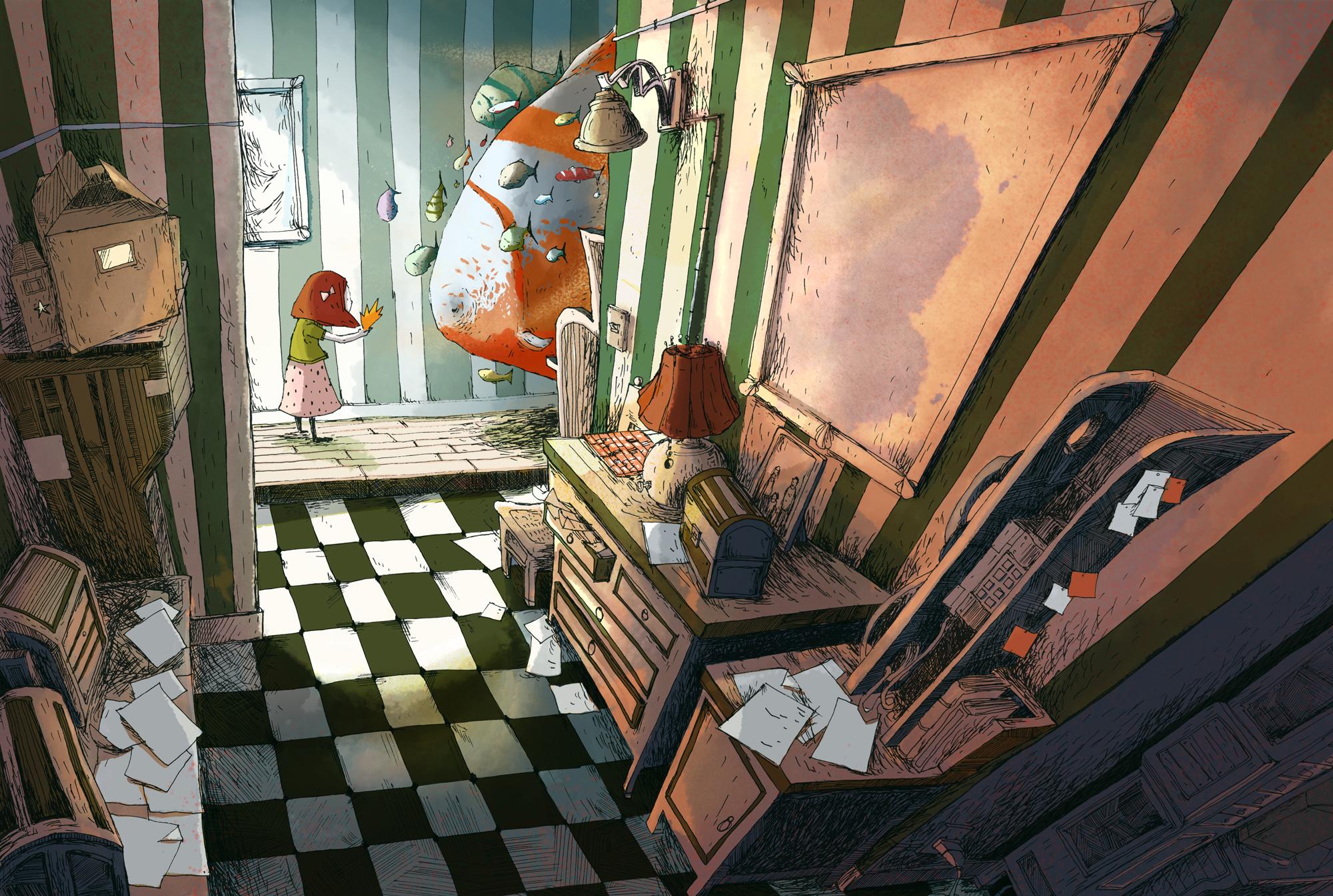 Poisson Appartement - 2010 - illustration Romain Laforet
