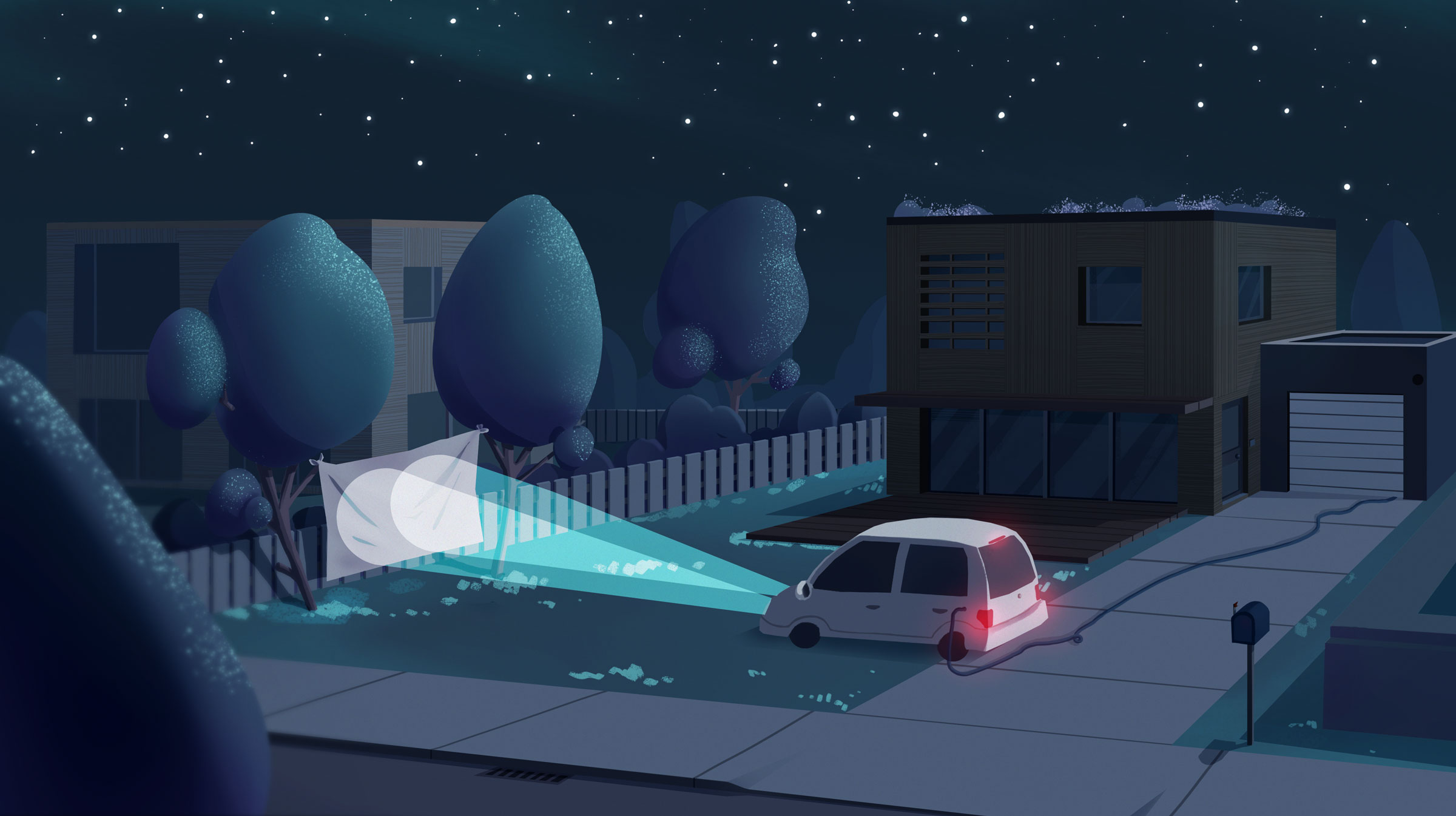 Projection Nocture - Concept, illustration - Romain Laforet