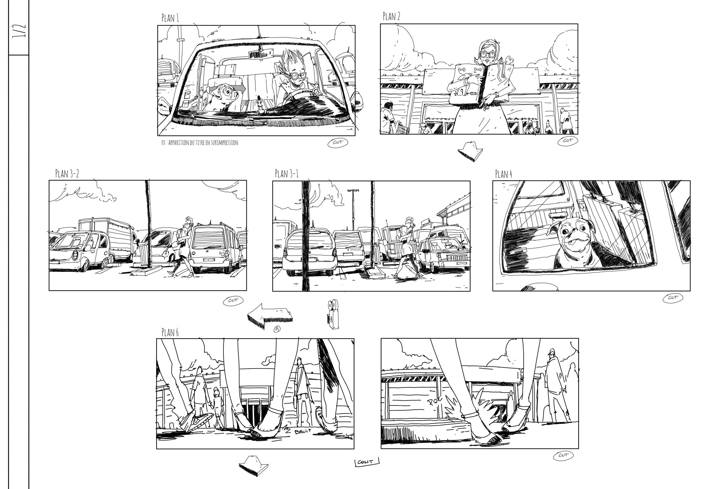 story board 01 - Projet Wanimo - Romain Laforet
