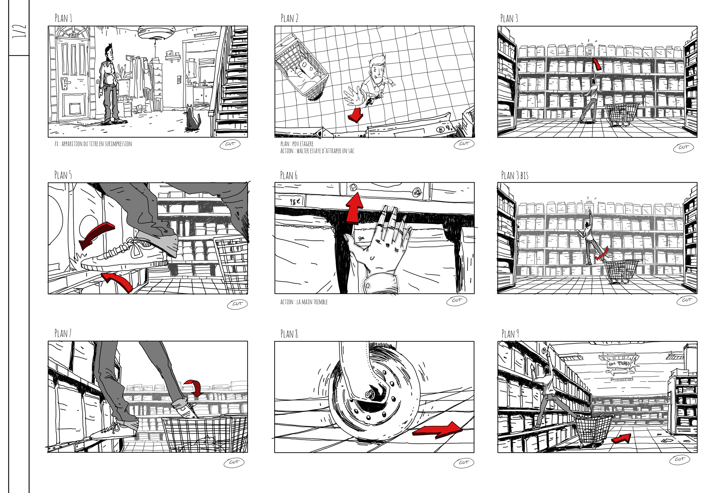 story board 02 - Projet 2 Wanimo - Romain Laforet