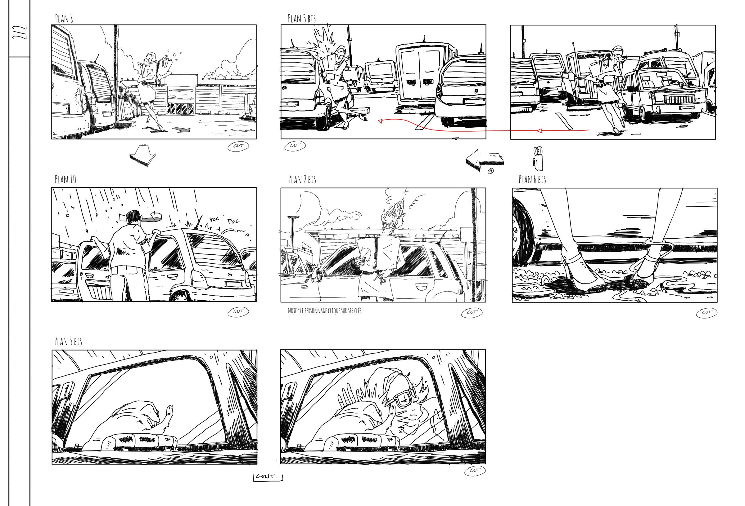 story board 02 - Projet Wanimo - Romain Laforet