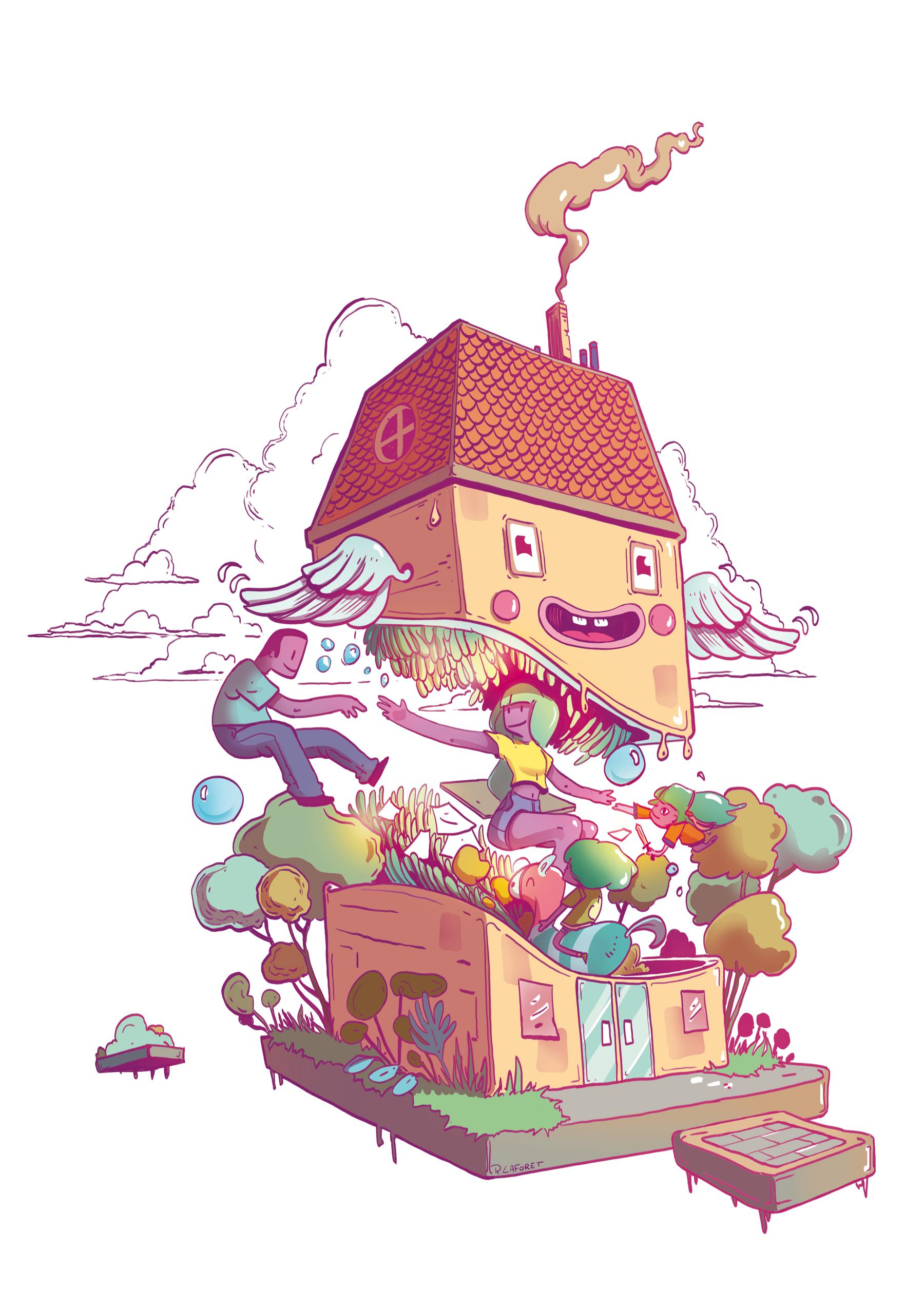 Maison Volante - Illustration - Romain Laforet