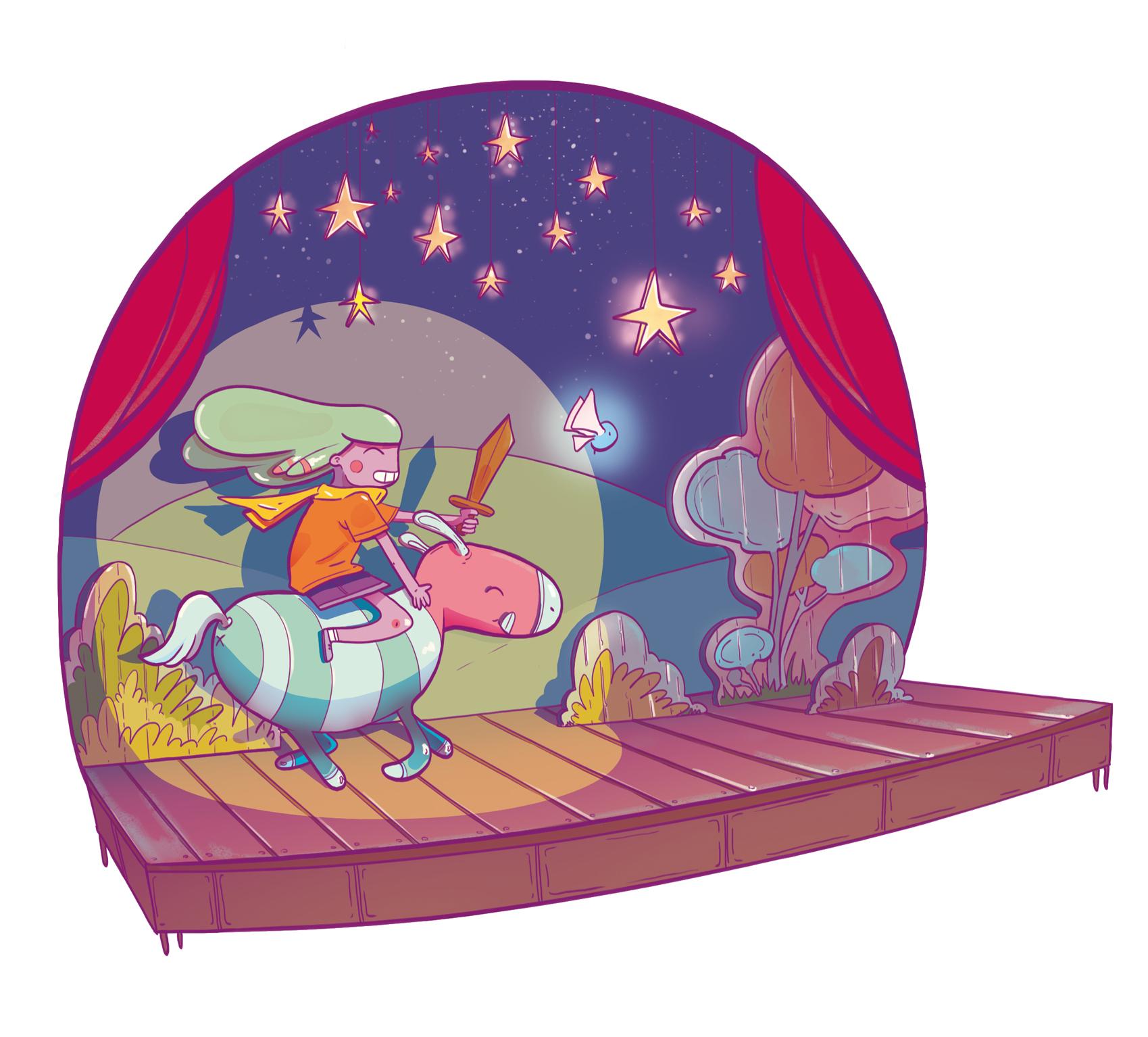 jeux d'enfant - Illustration - Romain Laforet