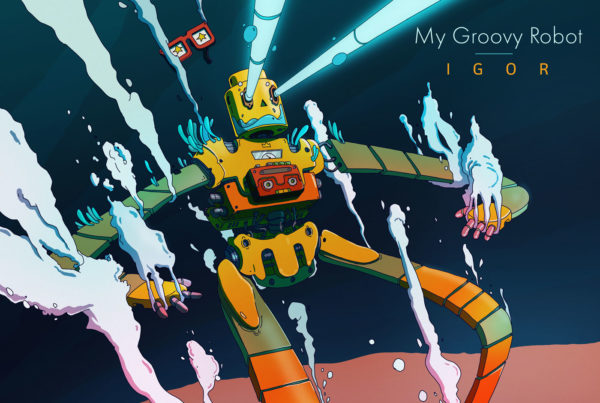 Igor, my groovy robot - cd cover - Illustration - Romain Laforet