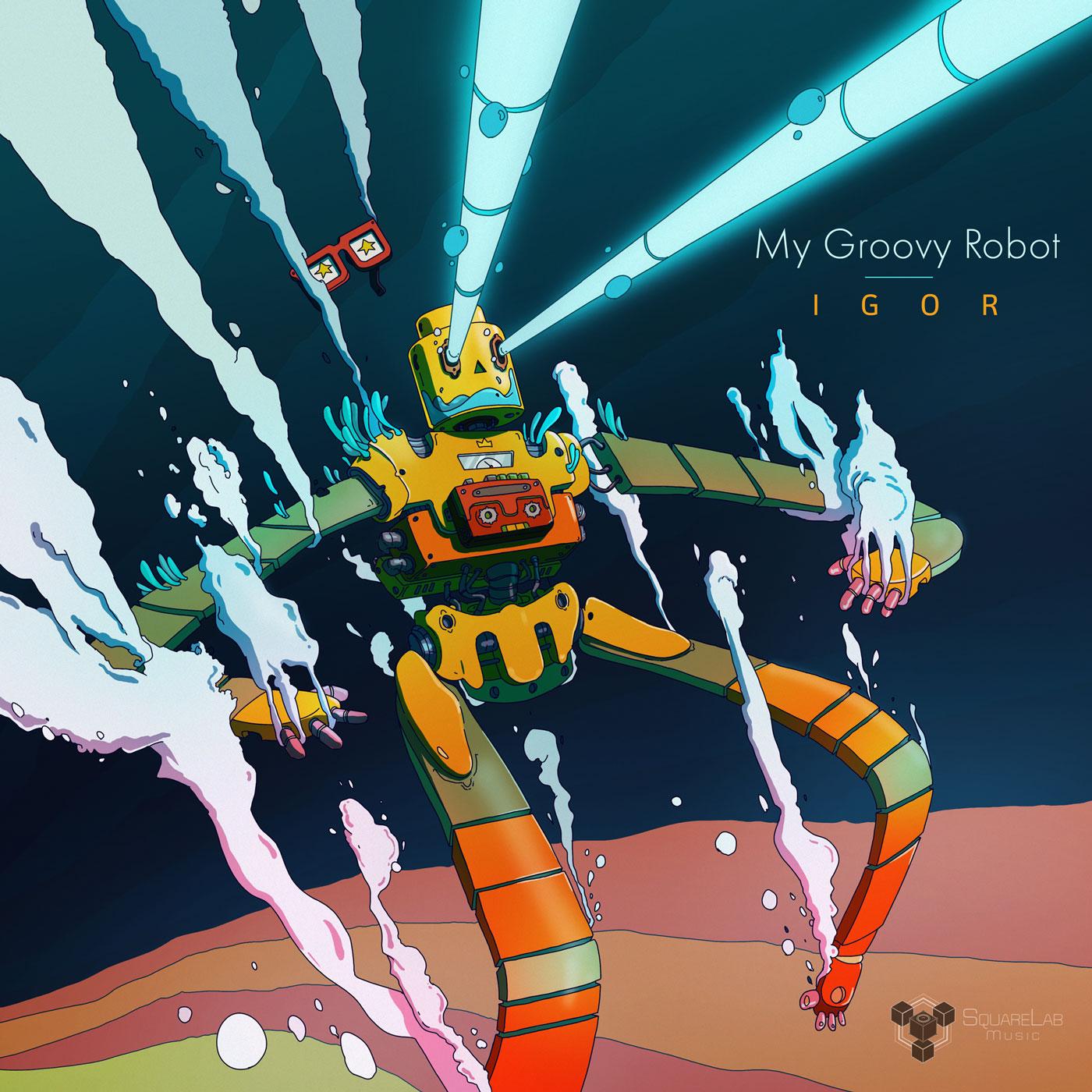 Igor, my groovy robot - cd cover - Illustration - Romain Laforet