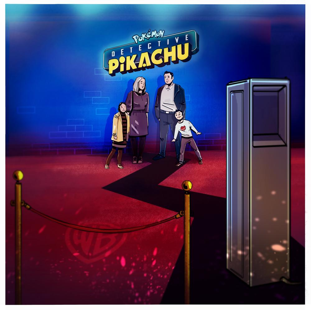 concept detective pikachu evenement lancement