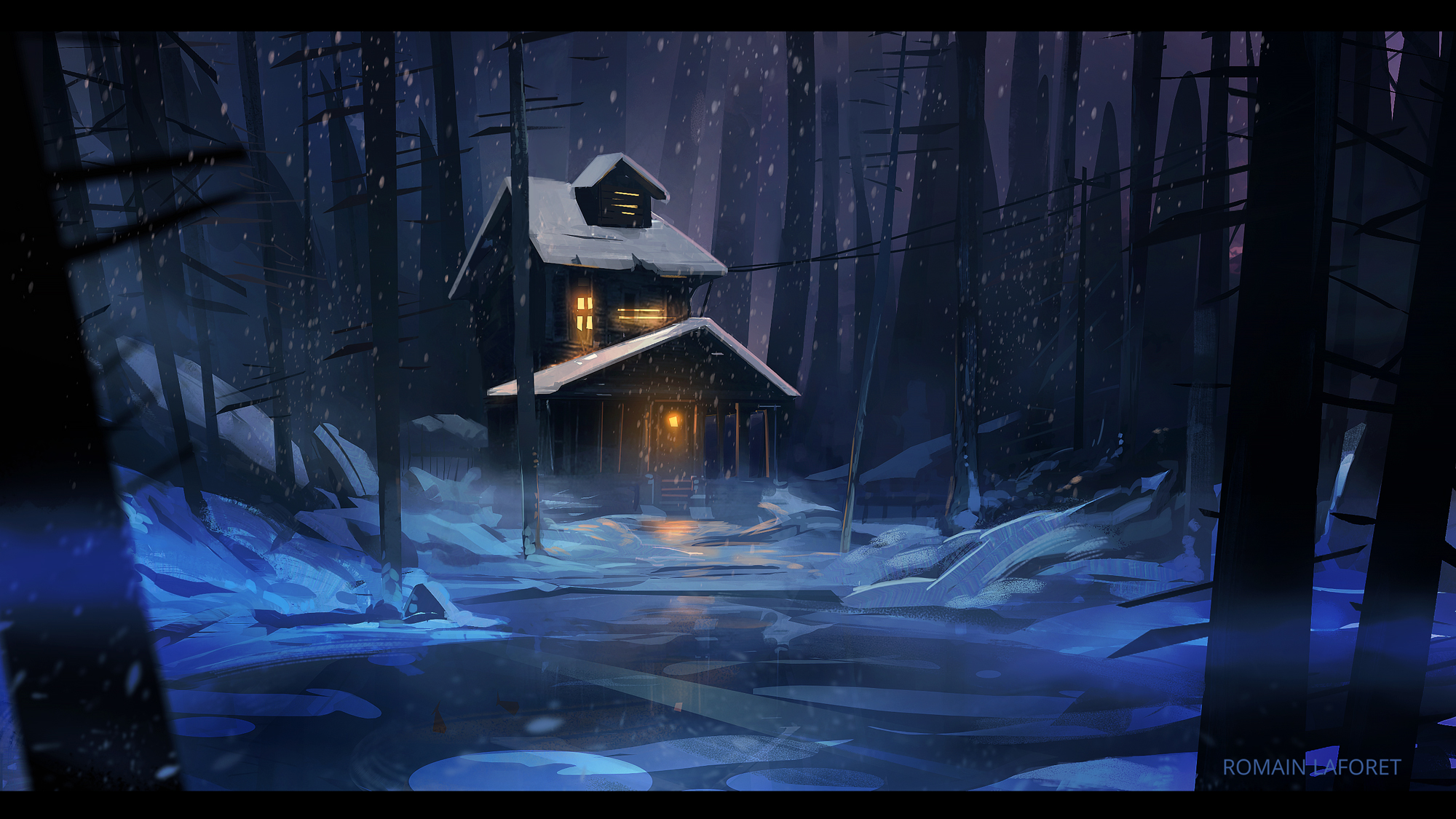 creepy cabin romain laforet concept art