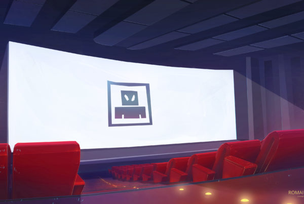 Movie theater concept background romain laforet