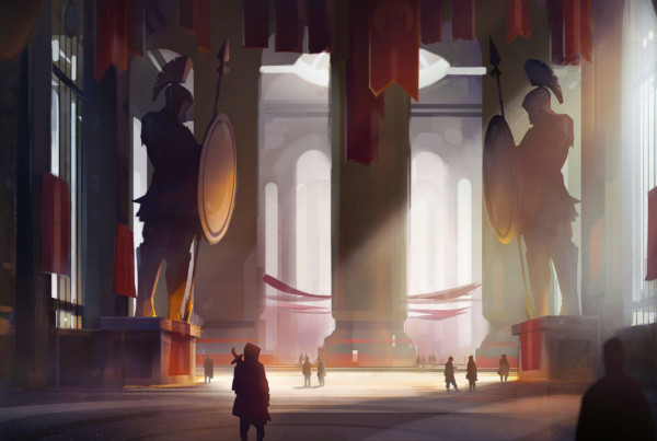 forum entrance romain laforet concept art