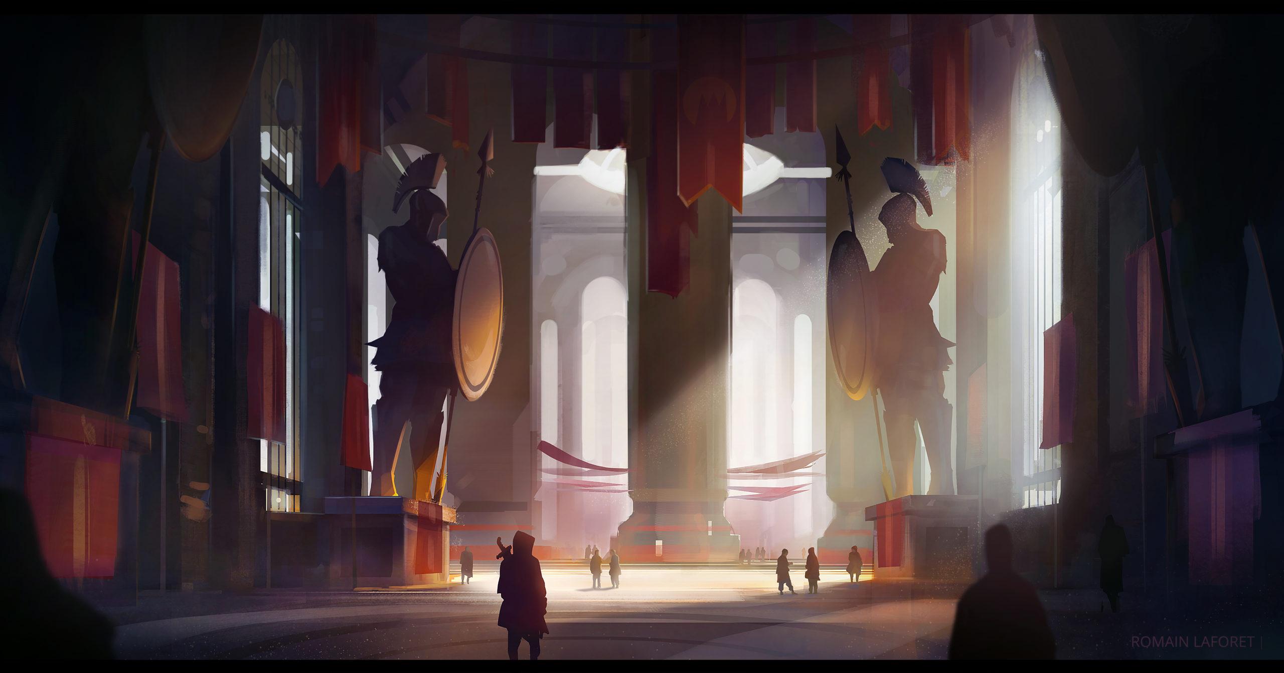 forum entrance romain laforet concept art