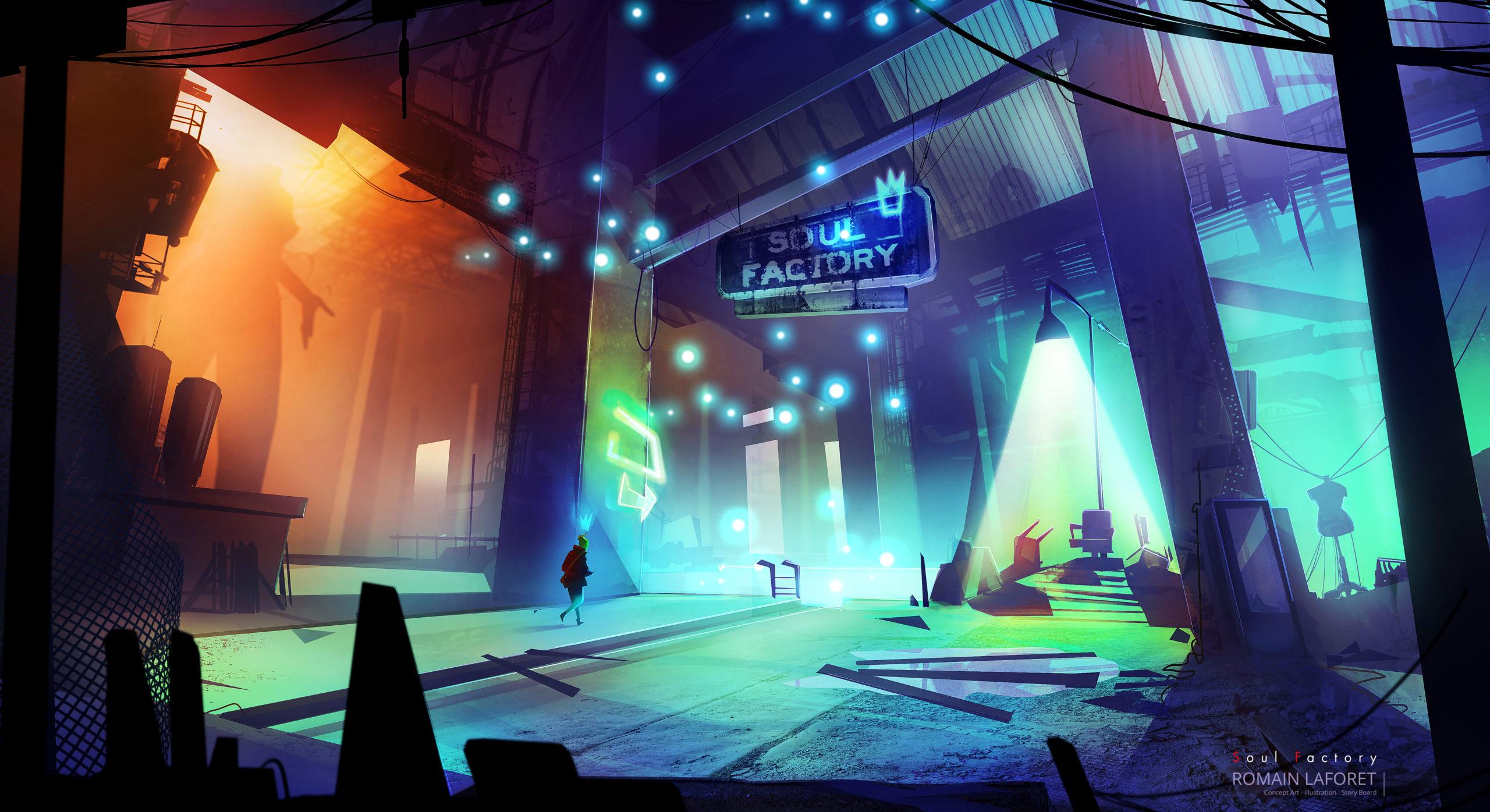 Soul factory romain laforet concept art environment concept